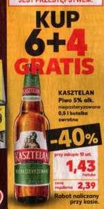 Piwo Kasztelan 1,43 zł/500ml przy zakupie 10 sztuk @Kaufland