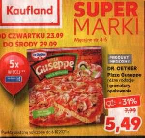 Pizza Guseppe 5,49 zł/szt i 5x więcej punktów Payback @Kaufland