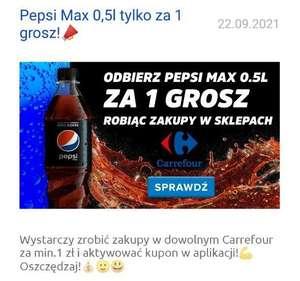 Pepsi Max 0.5l za 1 grosz w Carrefour