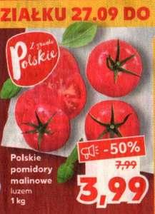 Polskie pomidory malinowe 1kg /Kaufland/