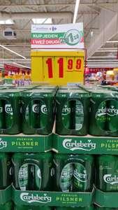 Piwo Calsberg 0,5l puszka. Przy zakupie 2x4 puszki.(1,46 z kuponem na 10%z apki)Carrefour Olsztyn Krasickiego