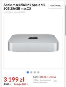 Komputer Apple Mac Mini M1 Apple M1 8GB 256GB macOS