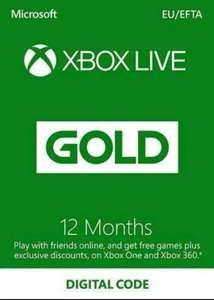 Xbox Live Gold 12-miesięczny klucz Xbox Live Turcja (wymagany VPN) 124.79zł @ CDKeys