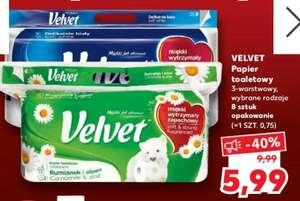 Papier toaletowy Velvet 8 rolek Kaufland