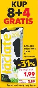 Mleko Łaciate 2%UHT kup 8+4 gratis Kaufland