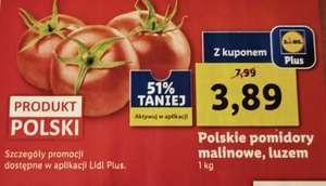 Polskie pomidory malinowe 3,89 Lidl, winogrona 5,99 zł