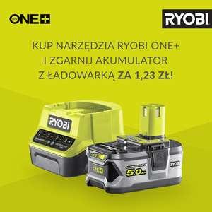 Kup narzędzia Ryobi One+ i zgarnij ładowarkę + bateria 5Ah w prezencie. Narzędzia.pl