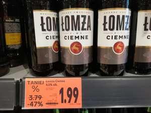 Piwo Łomża ciemne Kaufland Oświęcim