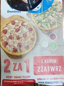 Dominos Pizza 2 pizze w cenie jednej. 2 ZA 1