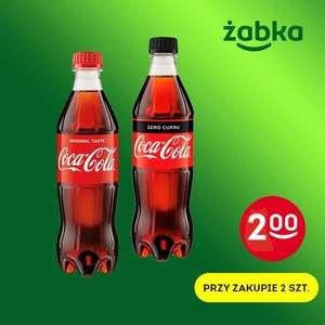 Coca-Cola / Coca-Cola Zero 0,5l za 2zł/szt przy zakupie 2 - Żabka