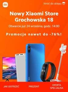 Otwarcie Xiaomi Store w Warszawie, Mi Band 5 za 39zł i wiele innych rabatów