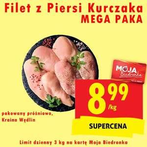 Filet z piersi kurczaka MEGA PAKA 8.99zł/kg z kartą - Biedronka