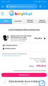 Fotelik samochodowy BeSafe iZi Flex fix i size 15-36 kg z kodem rabatowym - 10%na babyhit