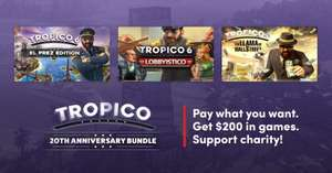 Tropico 20th Anniversary Bundle - 4 gry + DLC (PC, Steam) w 3 progach od 1€ do 10€ @ Humble Bundle