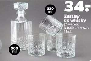 Zestaw do whisky (karafka+ 4 szklanki). Sklep Netto