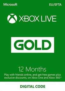 Xbox Live Gold 12-miesięczny klucz Xbox Live Turcja (wymagany VPN) 119.39zł @ CDKeys