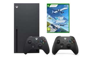 Zestaw Xbox Series X 1TB BLACK + Drugi pad + Microsoft Flight Simulator