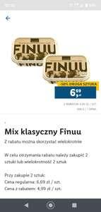 Mix klasyczny Finuu 200g przy zakupie 2 sztuk w apce /Lidl/