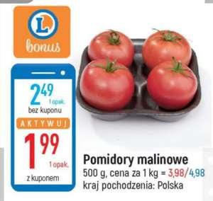 Pomidory malinowe polskie 500g 1kg=4 zł z kuponem /Leclerc/