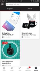 Karta Revolut w aplikacji mobilnej Yanosik za darmo