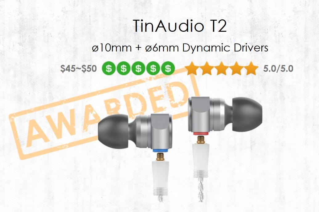 Polecane słuchawki Tin Audio T2