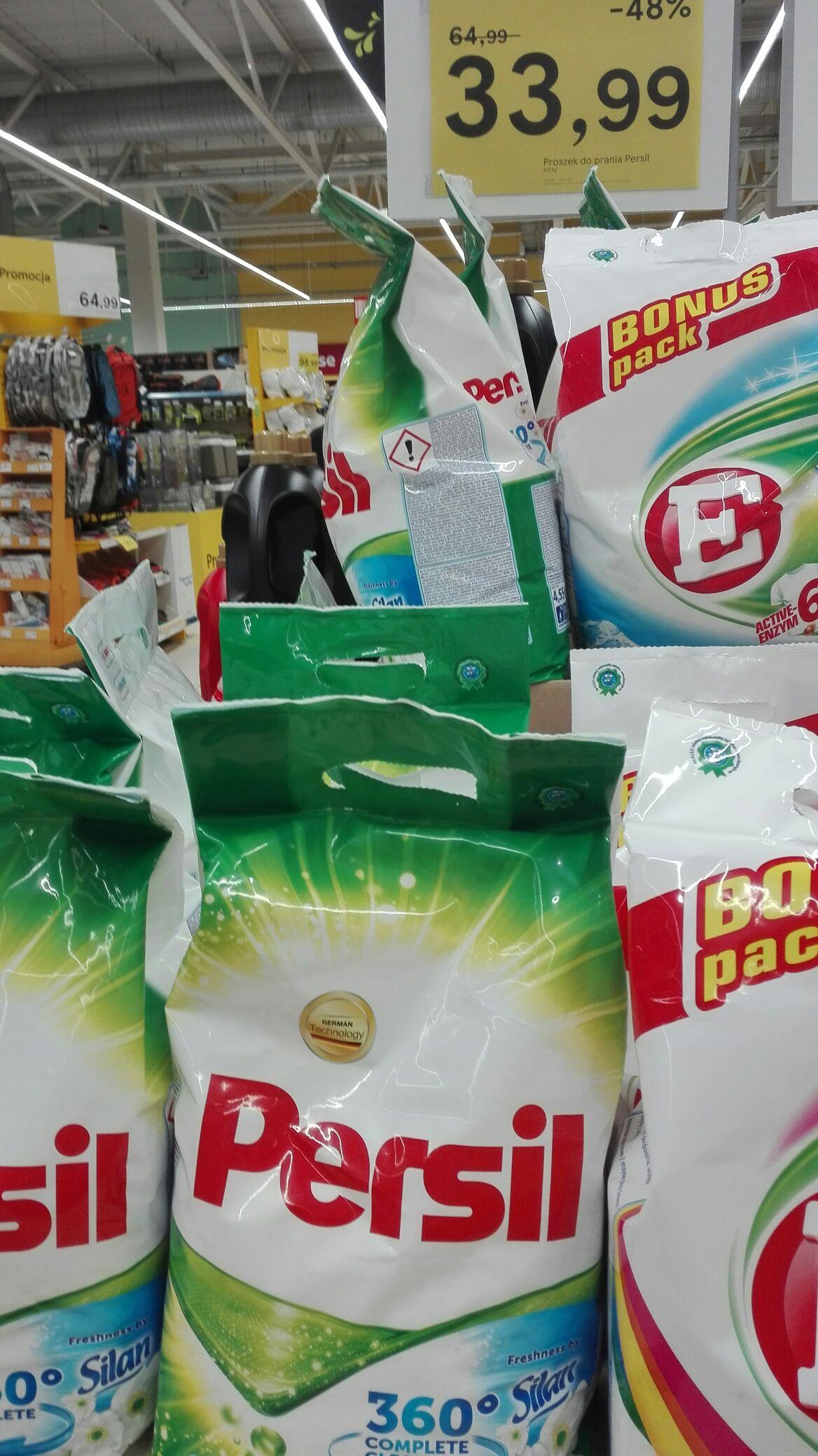 Proszek do prania PERSIL 4.9kg  - różne rodzaje (do białego i do koloru) @ TESCO Ostrołęka