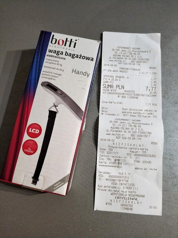 Waga bagażowa Botti PT-506 - błąd cenowy?