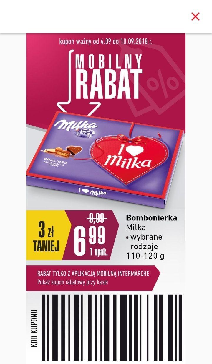 Bombonierka Milka: I love Milka, Thank You, Happy Birthday + odblask gratis @ Intermarche