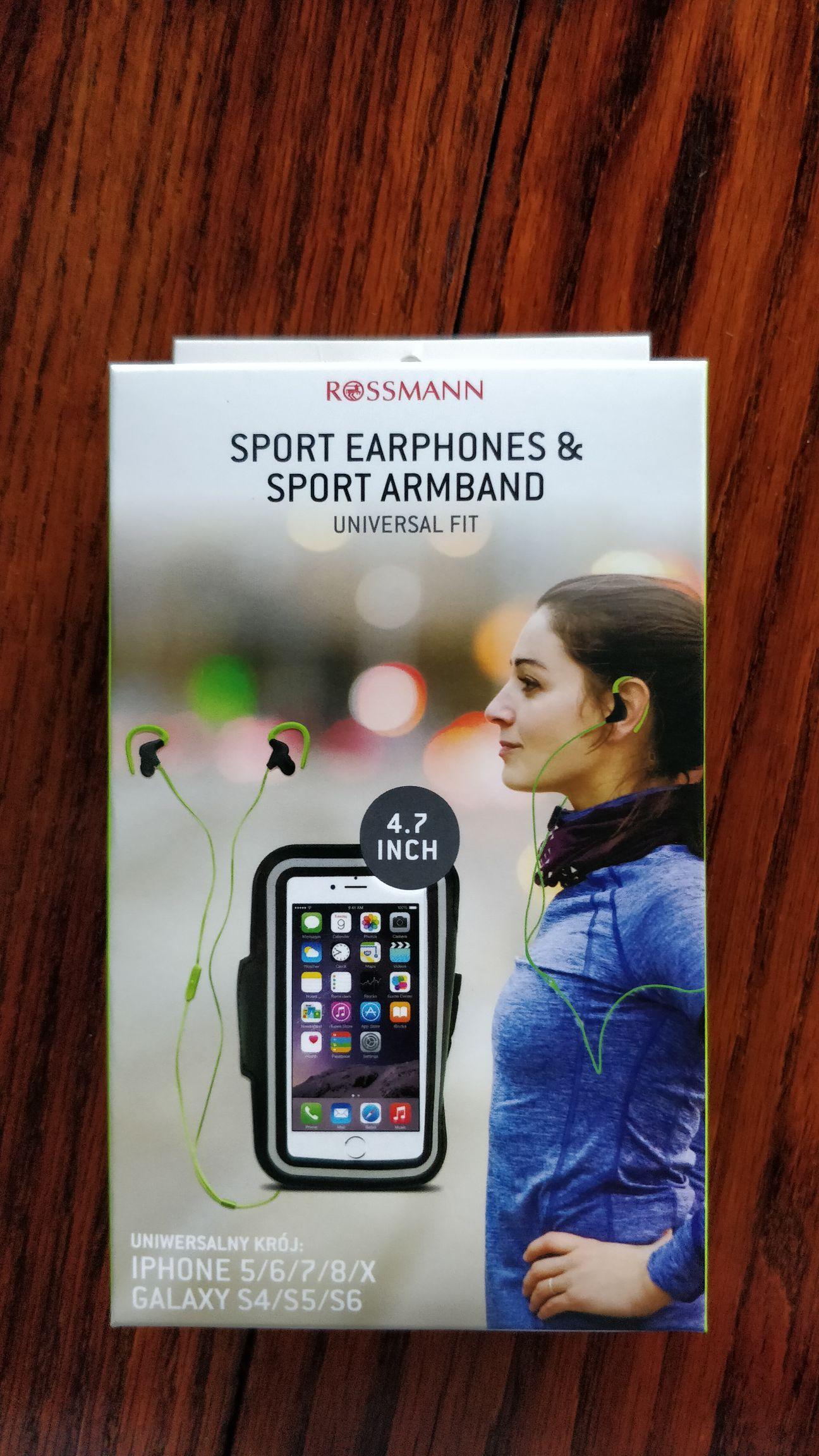 Słuchawki + opaska na ramię dla iPhone 5/6/7/8/X I SGS 4/5/6