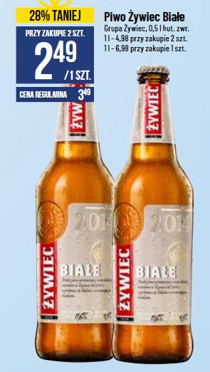 2x piwo Żywiec Białe (2,49 zł za 1) @ POLOmarket
