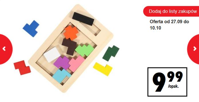 Drewniane gry edukacyjne za 9,99zł @ Biedronka