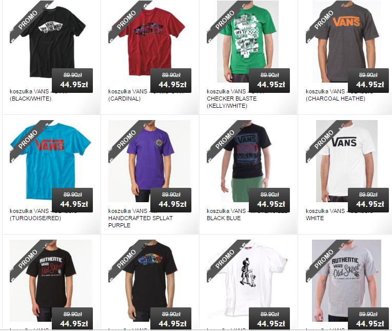 [WYPRZEDAŻ] marki Vans do -50% (np. koszulki za 44,95zł) @ Rockmetalshop