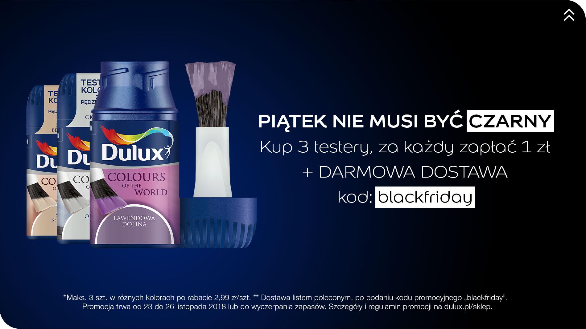 Testery Dulux za 1zł/sztuka + darmowa dostawa