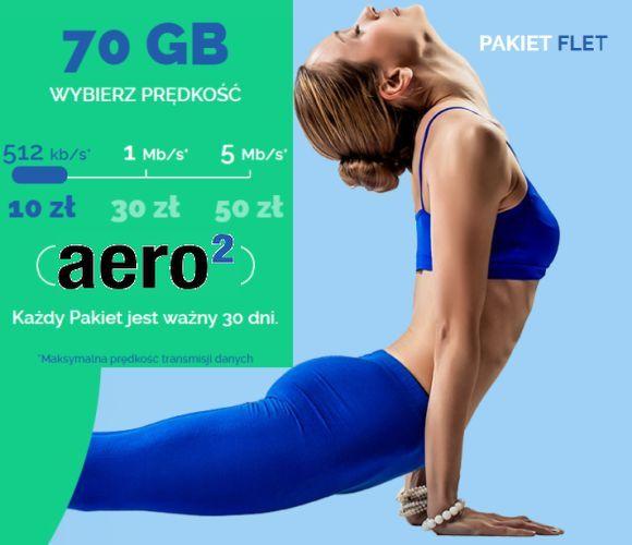 Aero2 Nowe Pakiety 70GB za 30dni