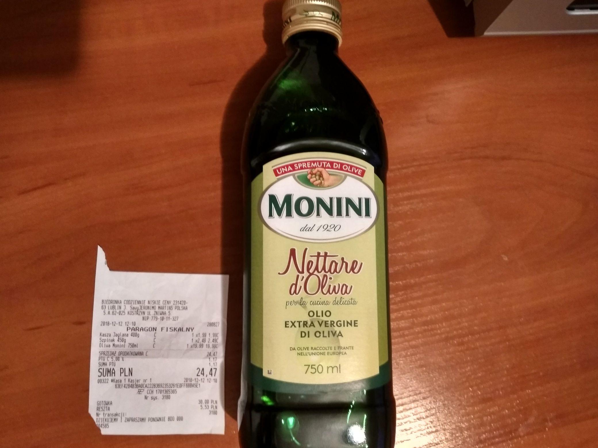 Oliwa z oliwek Monini Extra Vergine 750 ml @ Biedronka