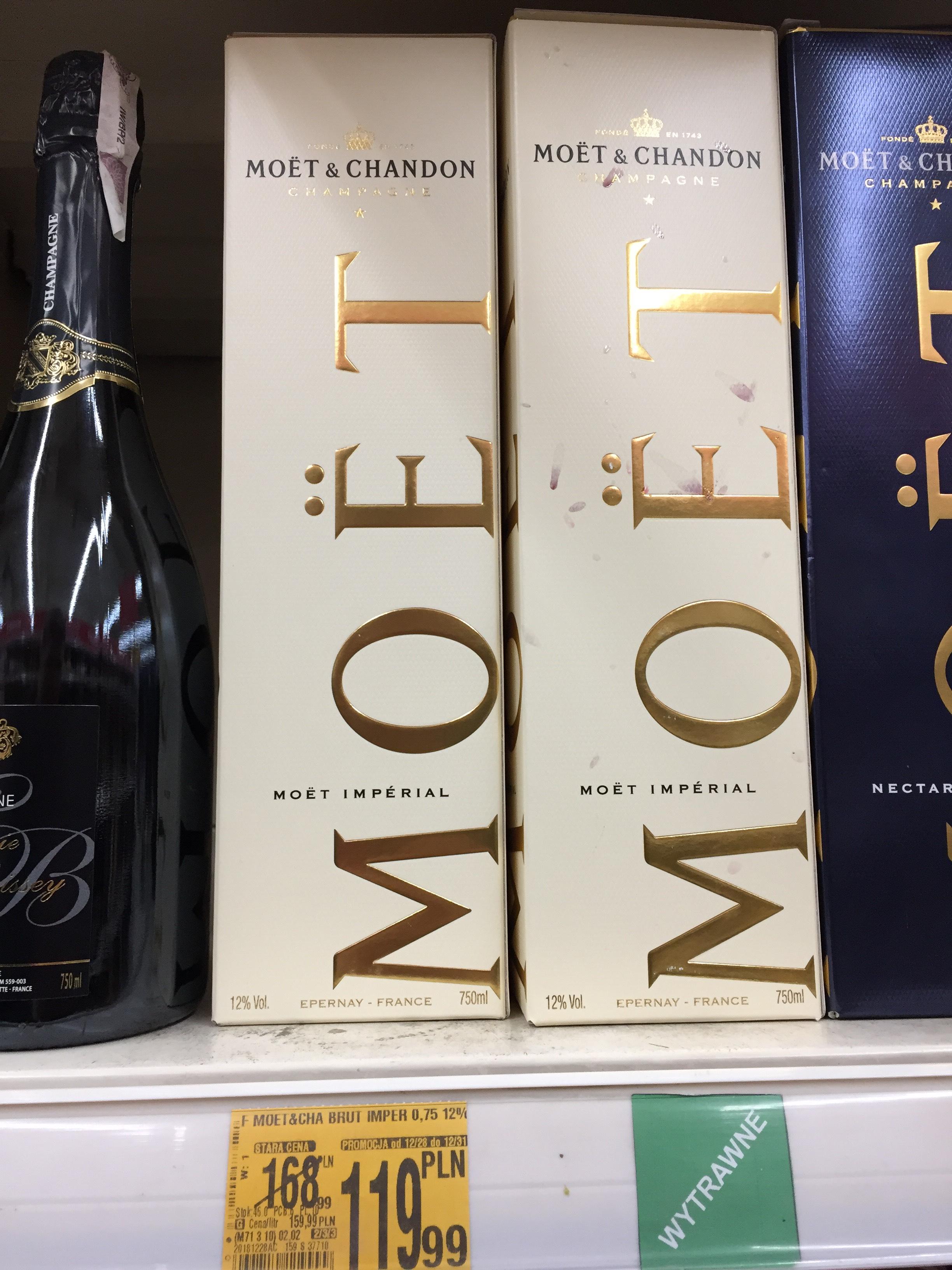 Szampan MOET & CHANDON Imperial + karton | Auchan | 119,99zł