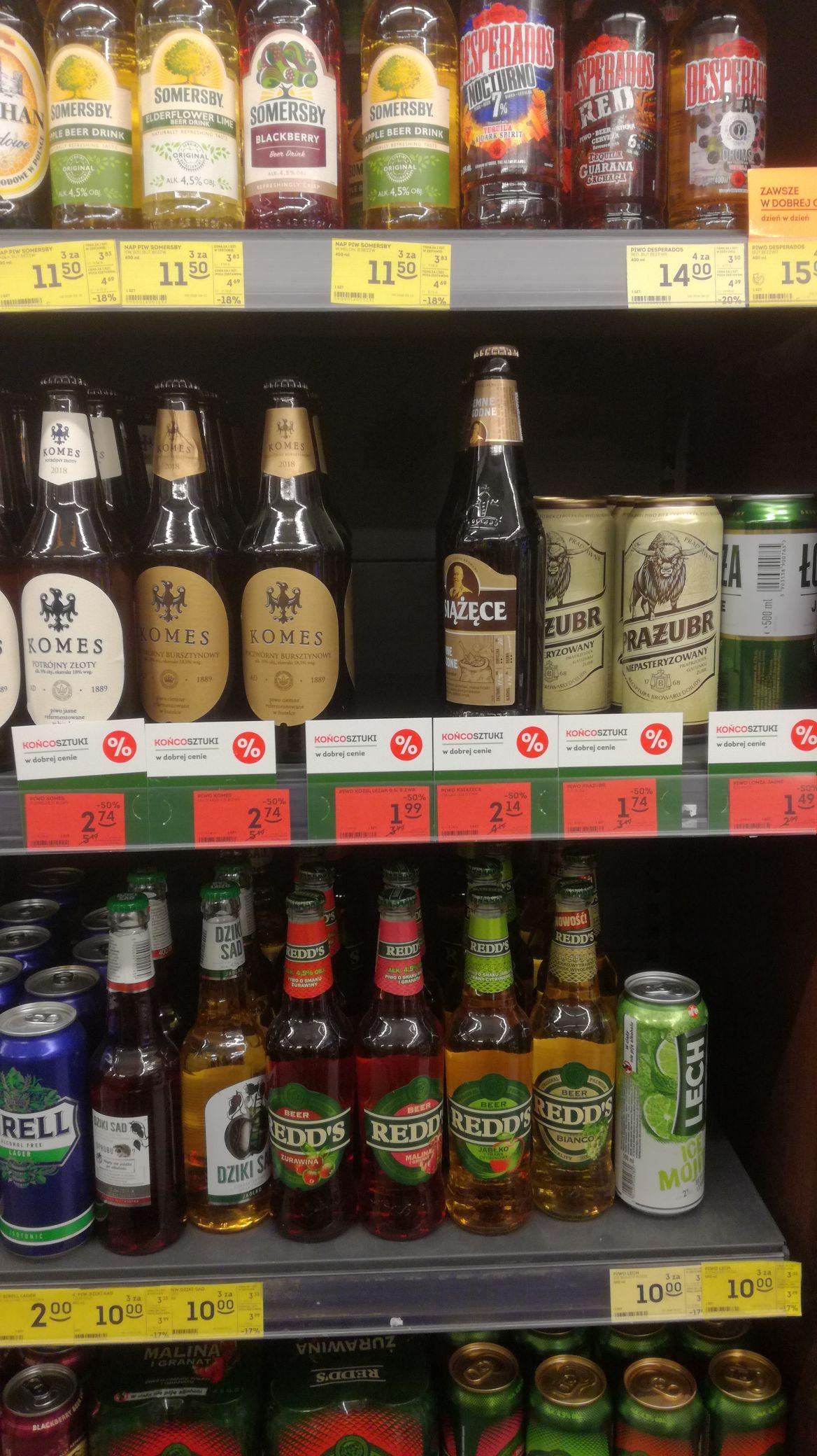 """Piwo różne marki we Fresh Market -50% """"Końcosztuki"""""""