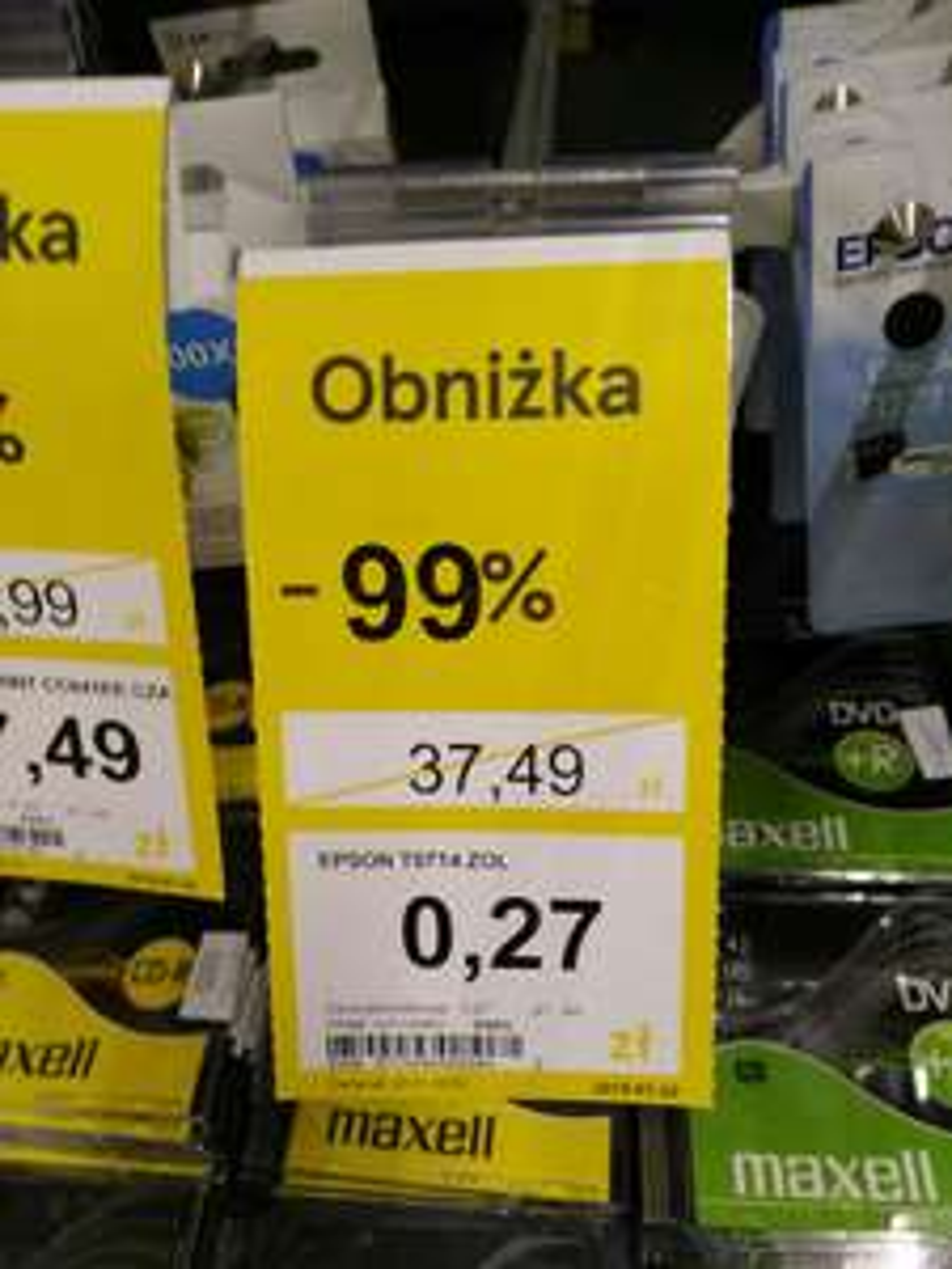 Tusz do drukarki Epson T0714ZOL Wrocław Długa