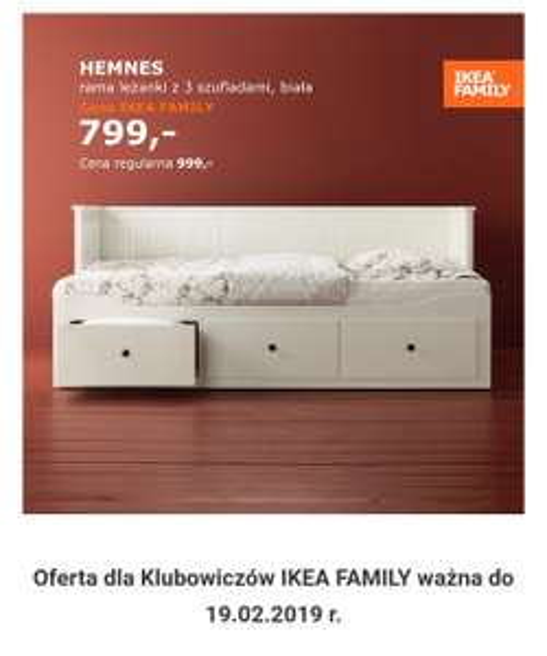 Hemnes- Rama łóżka IKEA