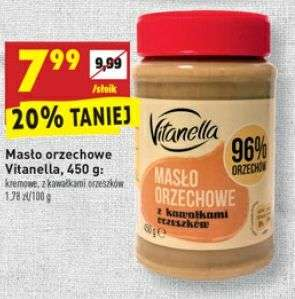 Masło orzechowe Vitanella 450g Biedronka