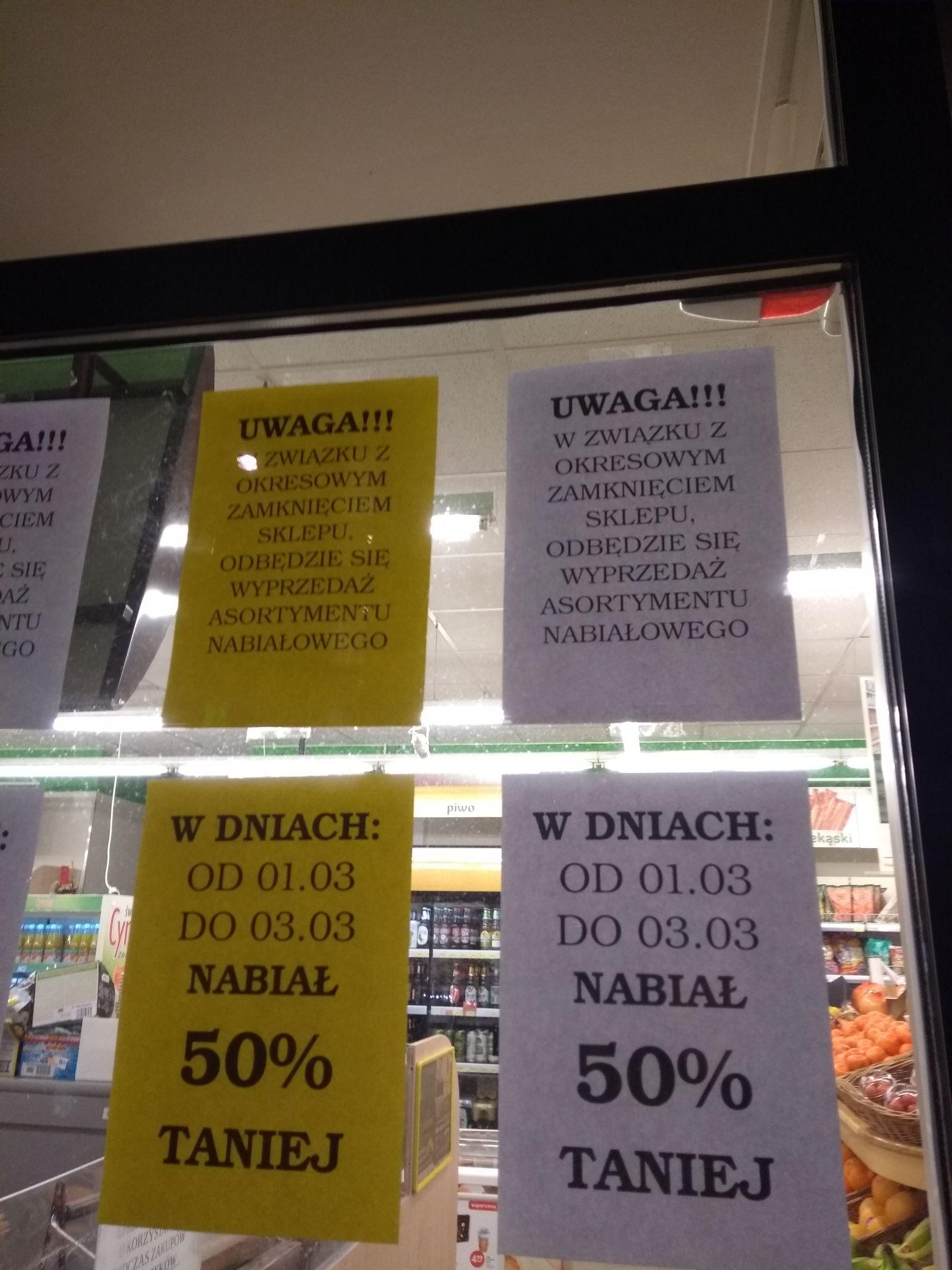 Fresh Market Wrocław Słonimskiego -50% nabial