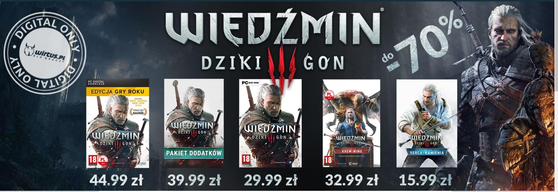 Wiedźmin 3: Dziki Gon Edycja gry roku  [PC, GOG]  Sklep Wirtus