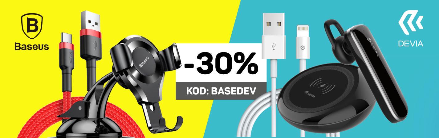 -30% z kodem na produkty BASEUS / DEVIA Zestawienie zbiorcze
