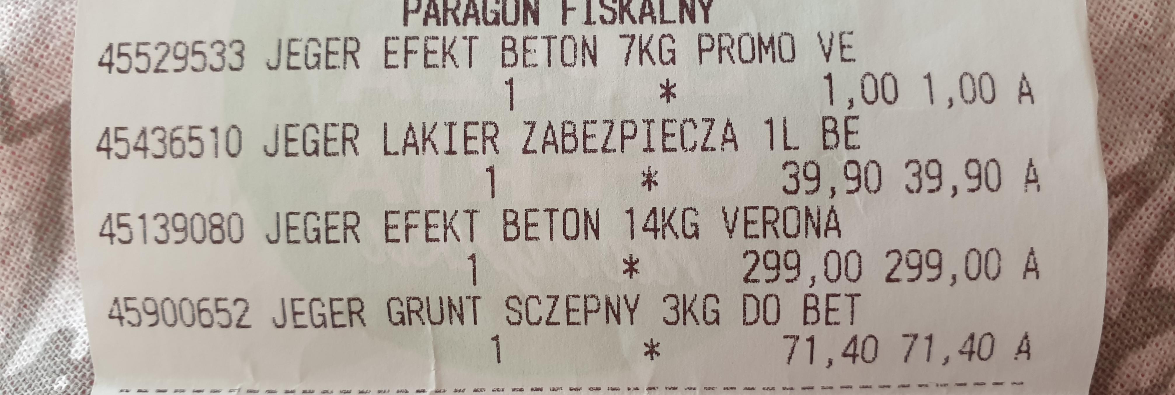Jeger efekt betonu 21 kg Leroy Merlin Port Łódź