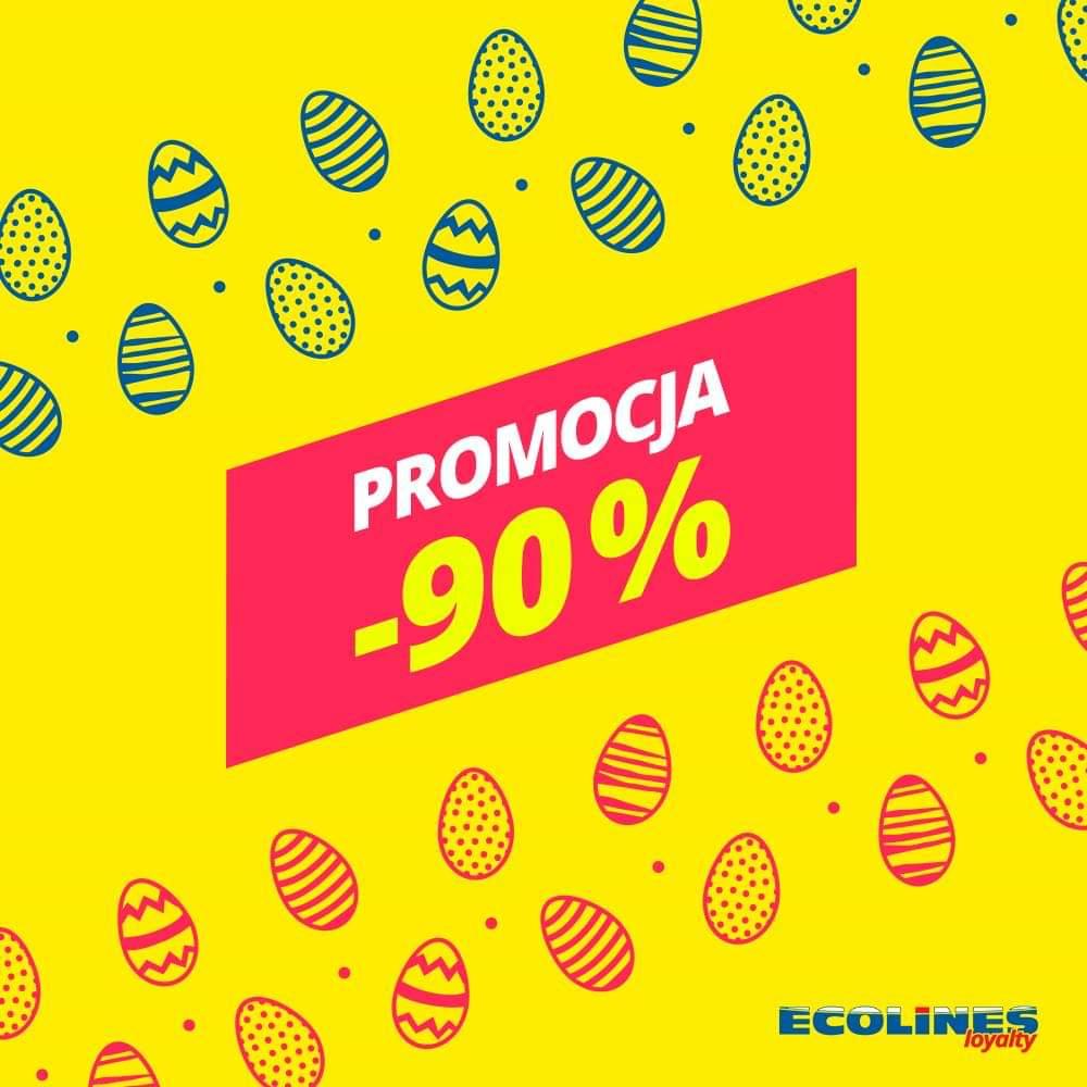 -90% na wszystkie kierunki z Polski @ Ecolines