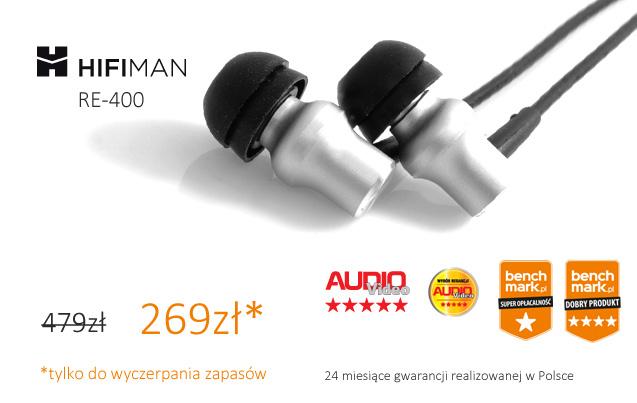 HiFIMAN RE400 słuchawki dokanałowe 200zł taniej