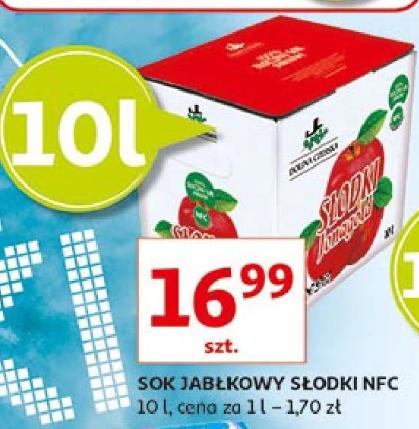 Sok jabłkowy tłoczony , nfc 10L w cenie 16.99, w dobrej cenie również Jogurt naturalny Primo Zott 3.5zł/kg. Auchan