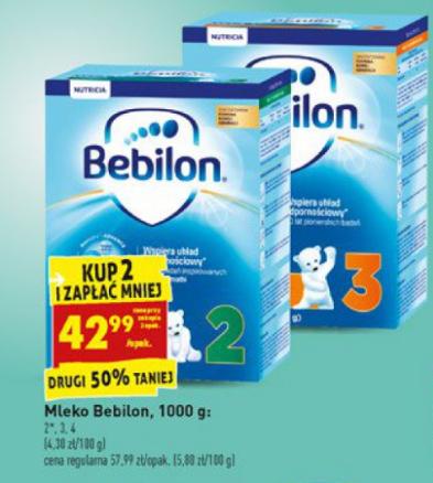 Mleko Bebilon 1000g za 42,99zł (przy zakupie dwóch) @ Biedronka