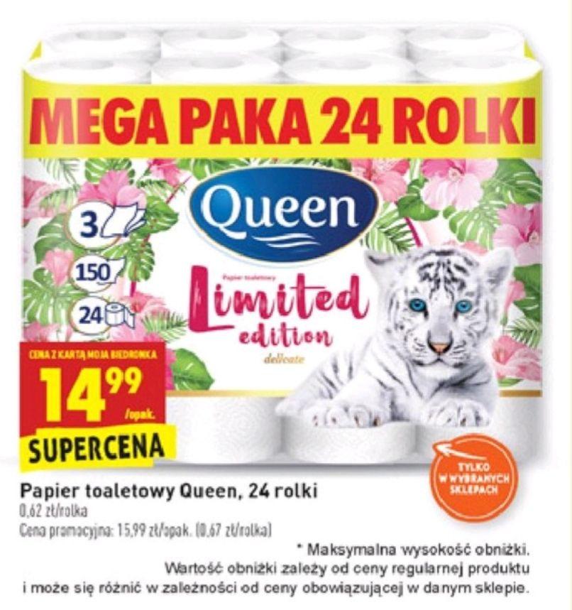 Papier Toaletowy Queen Mega Paka 3 warstwowy 24 rolki Biedronka