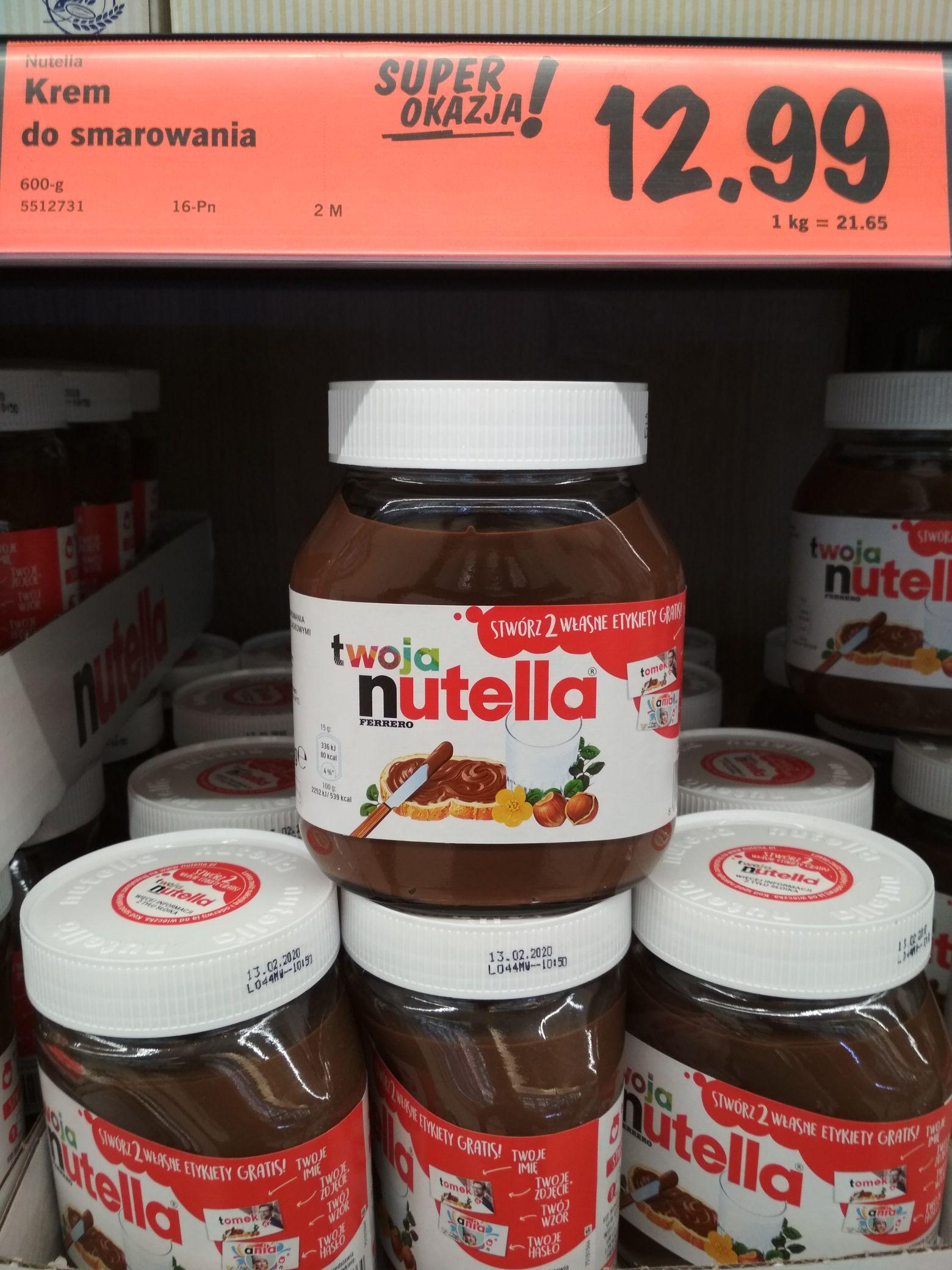 Nutella 600g w Lidlu